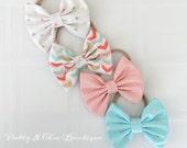 CHOOSE ONE - Fabric Bow - Londy Bow - Baby Headband