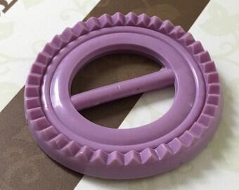 Vintage Buckle - purple plastic