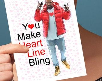 I Love You Card | Hotline Bling | Funny Anniversary Funny Love Card Drake Birthday Card Drizzy Husband Card Girlfriend Card Funny Boyfriend