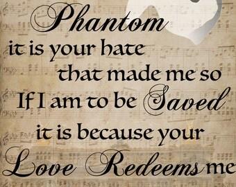 Graphic Print, Phantom of the Opera