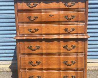 Superior Gorgeous Vintage Bassett French Provincial Tall Dresser Chest Of Drawers