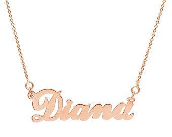 14K Rose Gold Personalized Name Necklace - Customize with Any Names