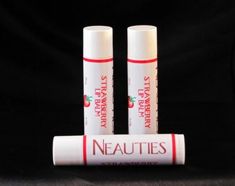 All Natural Strawberry Lip Balm by Neauties