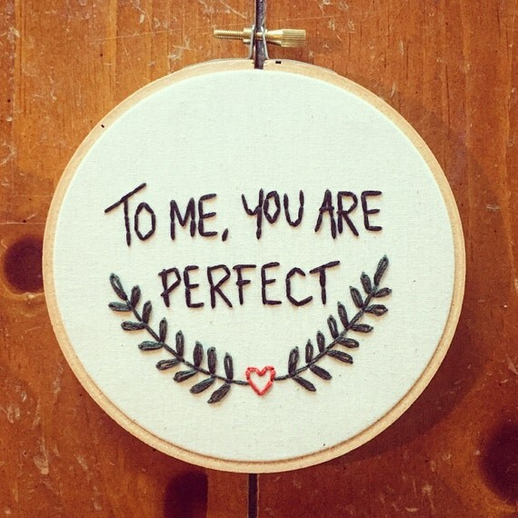 fabric muslin Quotes Love Actually Quotes To Me You Are Perfect