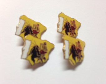 Bullfighter cufflinks