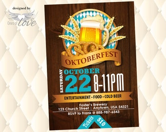 Oktoberfest Invitation Flyer | October Fest Event Flyer | Octoberfest Event promotion | Admit One Ticket |Fundraising Template