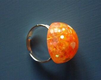 Orange round ring