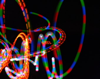 Poi * Motion Photography * Abstract Art * Moving Colors * Wall Art * Photographic Art * Poi Spinning * Black * Light Painting * Moving Color