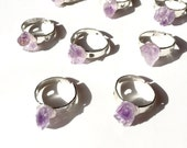 Mini rings, midi Gemstone Ring, mini silver ring