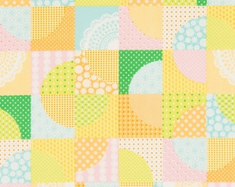 Cosmo Patchwork Yellow (Half metre)
