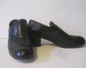 VINTAGE Dress Shoes Heels Size: 9.5 D Men's Made in Spain Retro
