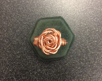 Rose Gold Rose Ring: Size ~6 3/4