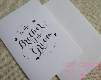 Brother of The Groom  - Attendant Card