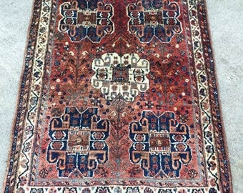 3'8x5 Vintage Persian Rug