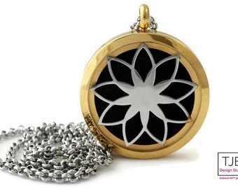 Lotus Diffuser Necklace-Two Toned-Lotus Diffuser-Free Shipping