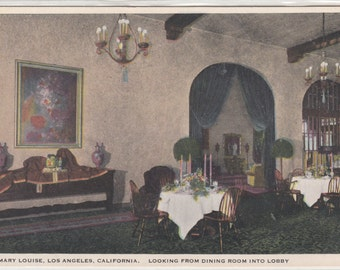 Mary Louise Looking From Dining Room Into Lobby,Tea Room And Parties W. 7th At Lake Early 1930s