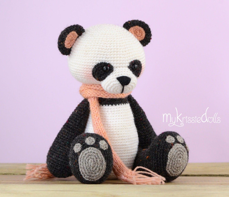 Амигуруми вязание крючком панда 811