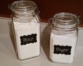 Kitchen Canisters - Flour/Sugar