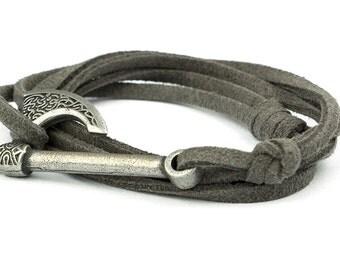 Axe bracelet BRAGI with black antique silver axe