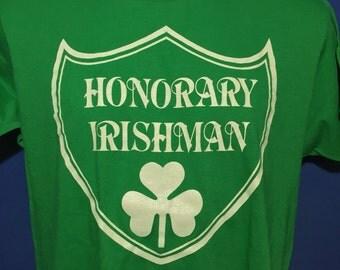 Vintage 1980s Honorary Irishman t shirt screen stars *M