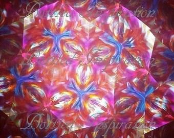 Pink kelidoscope blur digital download print.