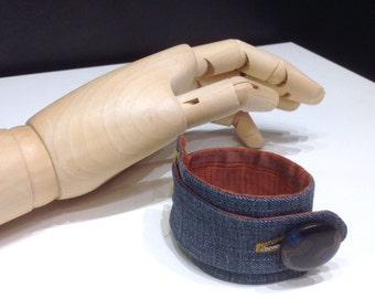 Handmade Denim bracelet