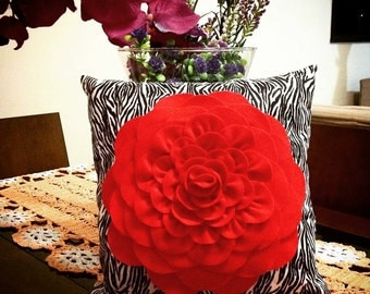 Red Rose Pillow/Cushion Red Rose