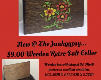Wooden SALT Cellar/Box