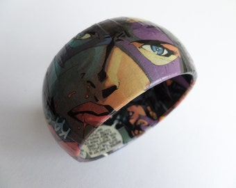 The Huntress Comic Decoupage Bangle