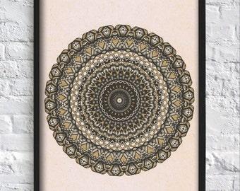 Black and Gold Mandala Illustration