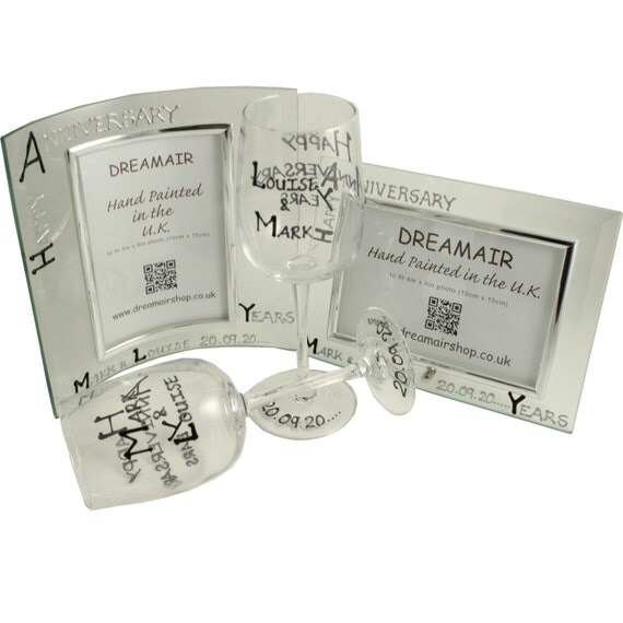 CUSTOMIZED 70th Year Wedding Anniversary Gifts Black Silver