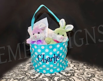 Monogram Easter Buckets - Customized Easter Basket - Monogram Easter Egg Basket - Easter Egg Bucket