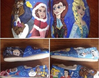Beauty and the Beast/Frozen Custom Toms