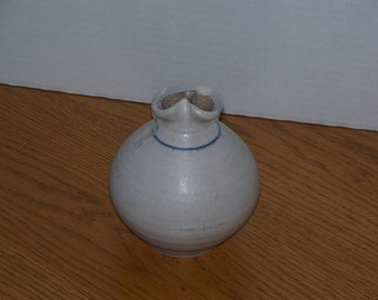 Vintage Pottery Oil Lamp With Two Burners