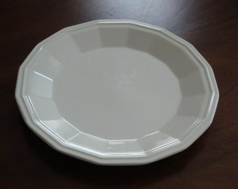 Two (2) Homer Laughlin White Colonial Ironstone Dinner Plates (10 available)!