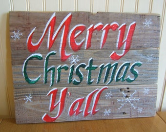 Outdoor christmas signs etsy for Outdoor christmas signs