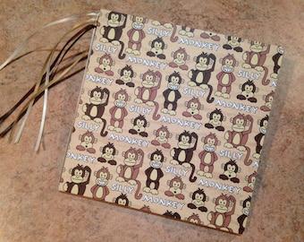 Boy/Little Monkey/Kids/Wild/Jungle/Animals 7x7  Scrapbook, handmade  photo album