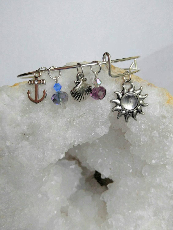 nautical bangle charm bracelet sea bracele anchor