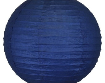 "12"" Navy Blue Paper Lantern RPL120026 Just Artifacts Brand - Paper Lanterns for Weddings, Parties, & Home Decor"