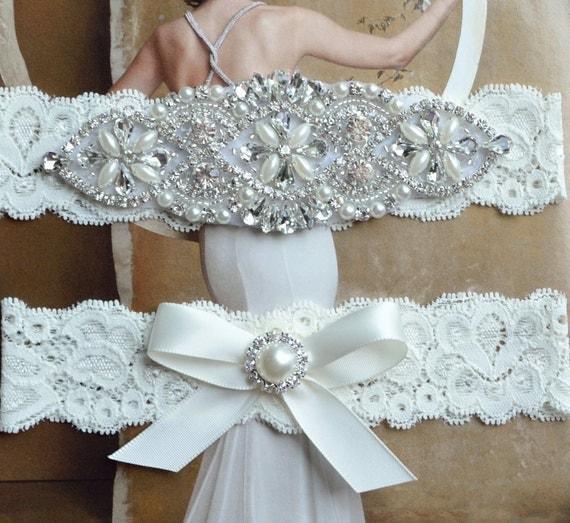 Plus Size Wedding Garters: Petite To Plus Size Wedding Garter Set Bridal Garter Petite