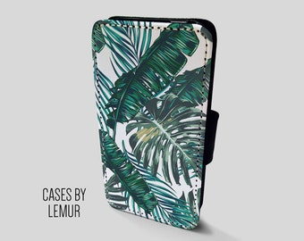 BANANA LEAF Iphone 7 Plus Wallet Case Leather Iphone 7 Plus Case Leather Iphone 7 Plus Flip Case Iphone 7 Plus Leather Wallet Case Leather