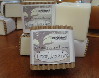 Green Clover and Aloe fragranced Natural Goatsmilk Soap