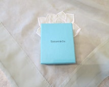 """Small Tiffany & Co. box, re-gift, storage, 3"""" x 3 1/2"""", empty box, jewellery, trinkets,  616/482"""