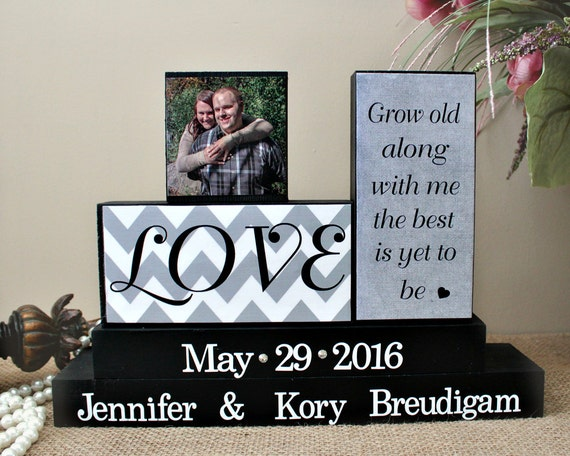 Me To You Wedding Gifts: Grow Old Along With Me Bride And Groom Gift By TimelessNotion