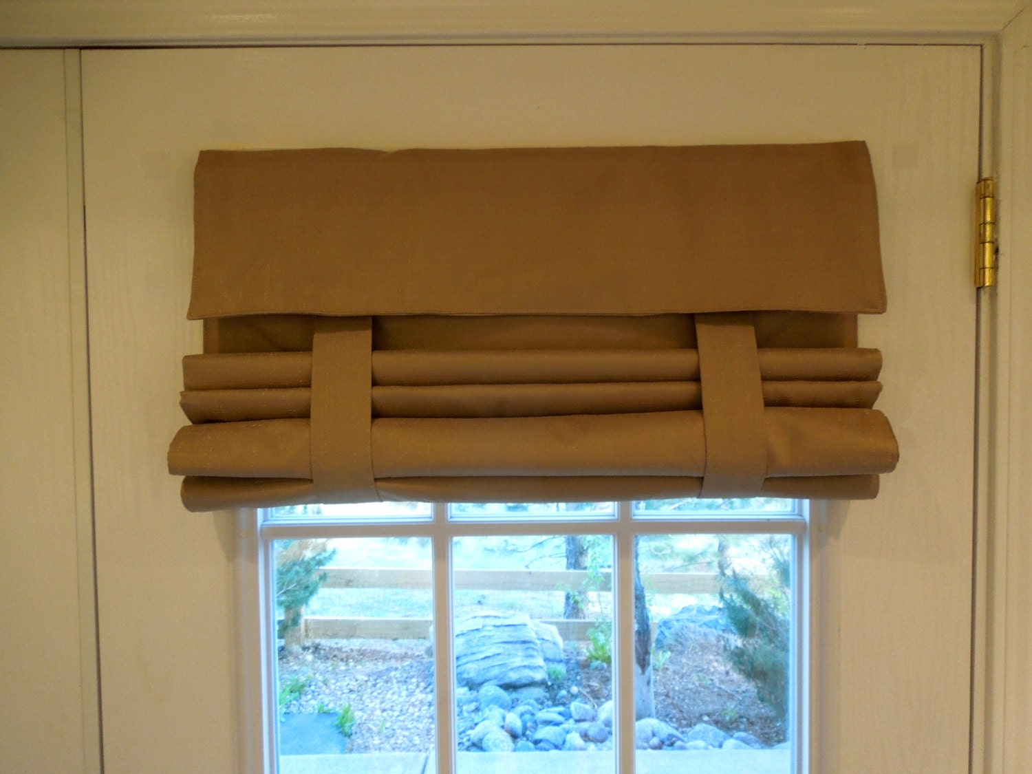 Tan Blackout French Door Curtain