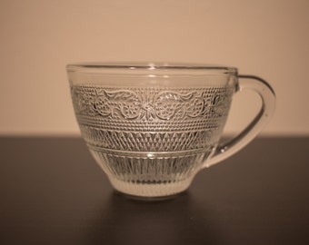 Elegant Vintage Glass Teacups Set of 8