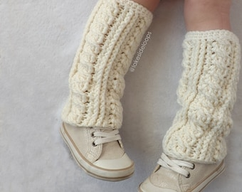Crochet Pattern - Lennon Cable Leg Warmers and Boot Cuffs by Lakeside Loops (includes Baby, Toddler, Child, Teen, and Adult sizes)