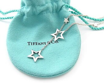 Tiffany Co. Star Lariat Necklace Sterling Silver Rare! Vintage! Tiffany co jewelry