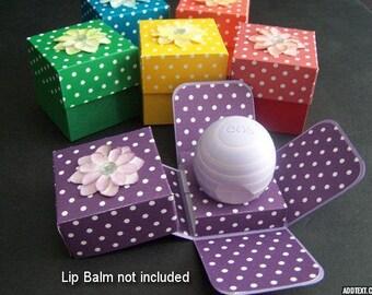 EOS Lip Balm Holder SET of 6 - EOS Party Favor Box - Lip Balm Party Favor - Polka Dot Party Favor