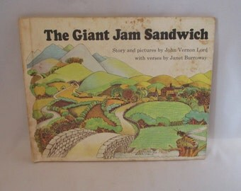 Vintage Children's Book 'The Giant Jam Sandwich' by John Vernon Lord ca 1972 ~ Hardcover